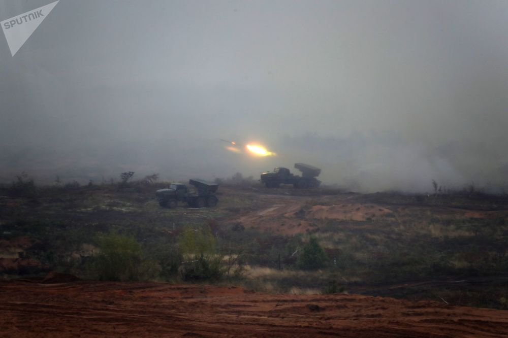 """Ćwiczenia wojskowe """"Zapad 2017"""" w obwodzie leningradzkim"""