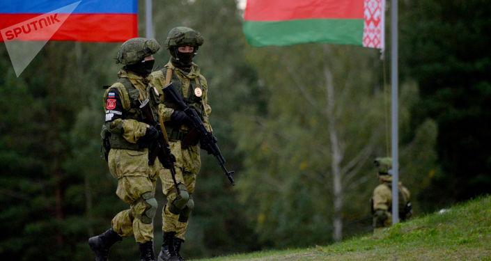 Strategiczne ćwiczenia sił zbrojnych Rosji i Białorusi Zapad 2017 na poligonie Osipowicze w obwodzie mohylewskim