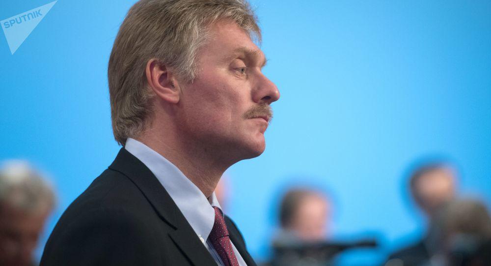 Rzecznik prasowy prezydenta Rosji Dmitrij Pieskow. Zdjęcie archiwalne