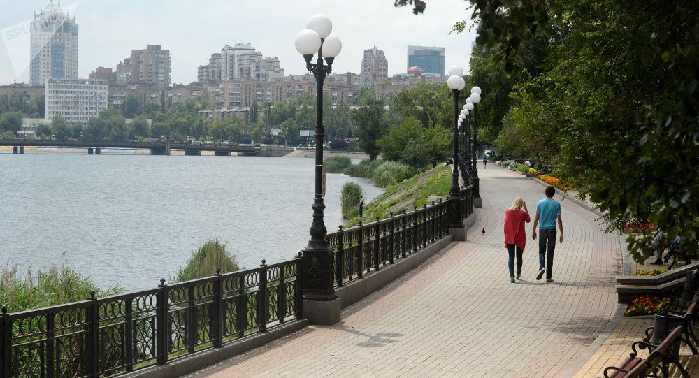 Na nabrzeżu w Doniecku