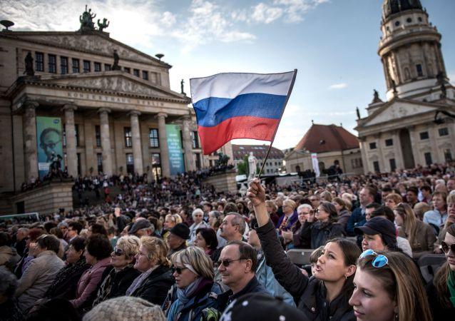 Koncert Piosenki Zwycięstwa w centrum Berlina