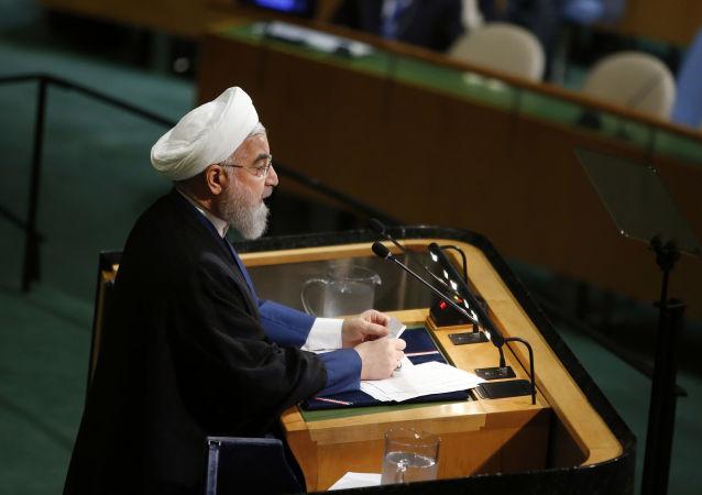 Prezydent Iranu Hasan Rouhani na 72. sesji Zgromadzenia Ogólnego ONZ w Nowym Jorku
