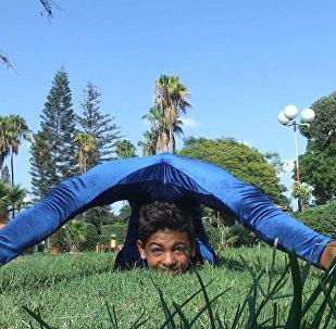 Młody akrobata chce pobić  rekord Guinnessa