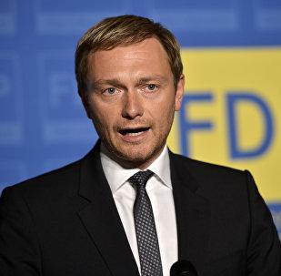 Christian Lindner lider Wolnej Partii Demokratycznej (FDP)