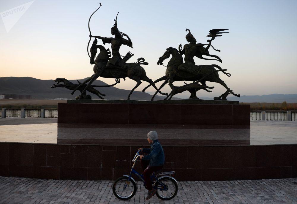 Rzeźba Carskie polowanie w mieście Kyzył