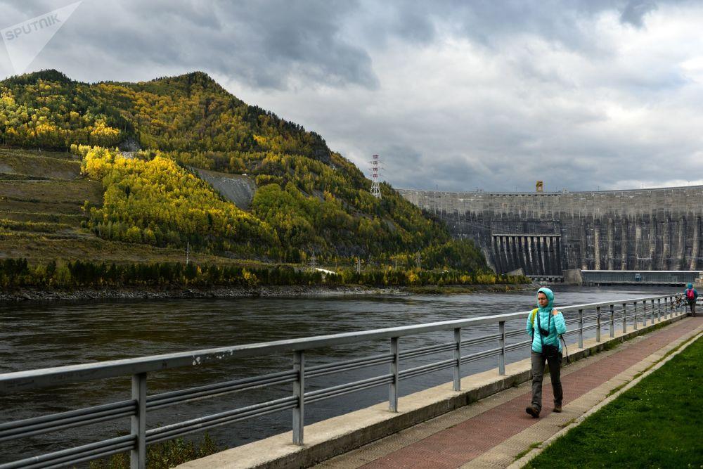 Hydroelektrownia w Chakasji