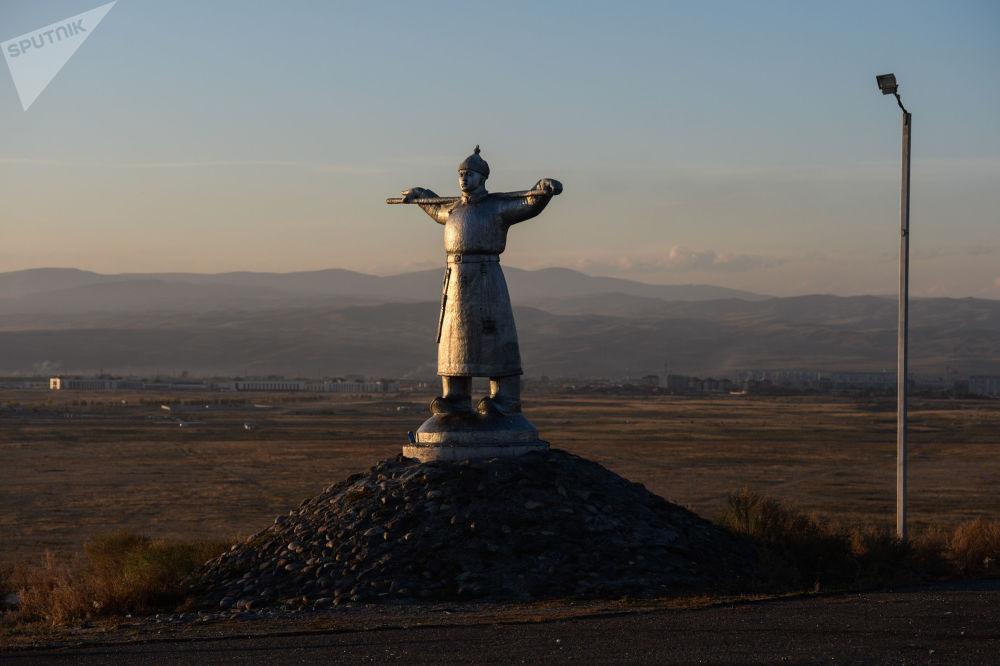 Pomnik pasterza w Republice Tuwa