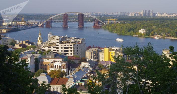 Widok na dzielnicę Padół w Kijowie