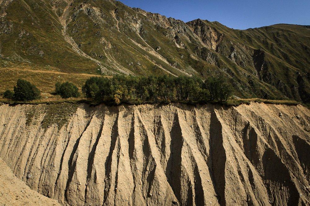 Osypisko w górach położonych we wschodniej części Kaukaskiego Rezerwatu Biosfery (Republika Karaczajo-Czerkiesji).