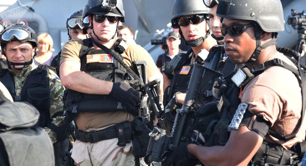 Amerykańscy żołnierze na ćwiczeniach Sea Breeze 2015