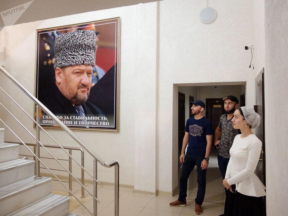 Wizyta w Czeczeńskiej Telewizji. Grozny