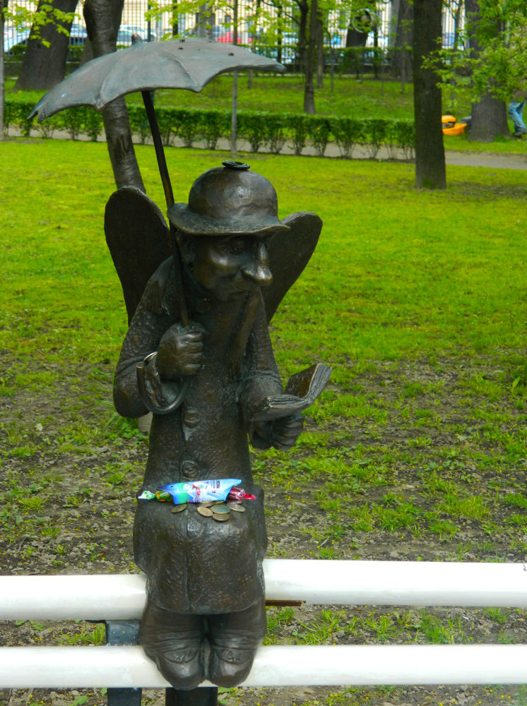 Anioł w parku