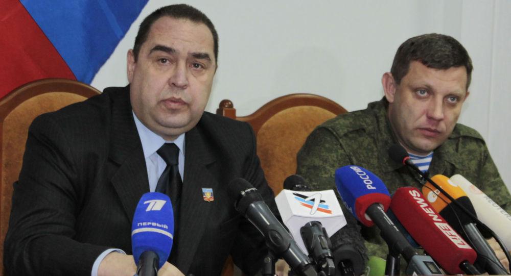 Przywódcy DRL i ŁRL Aleksander Zacharczenko i Igor Płotnicki