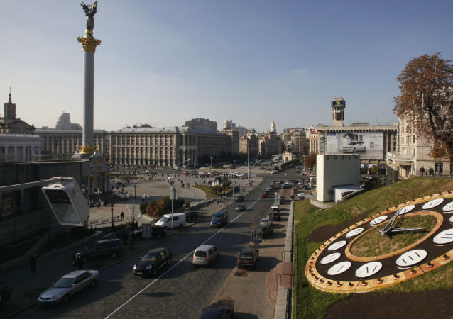 Widok na Plac Niezależności w Kijowie
