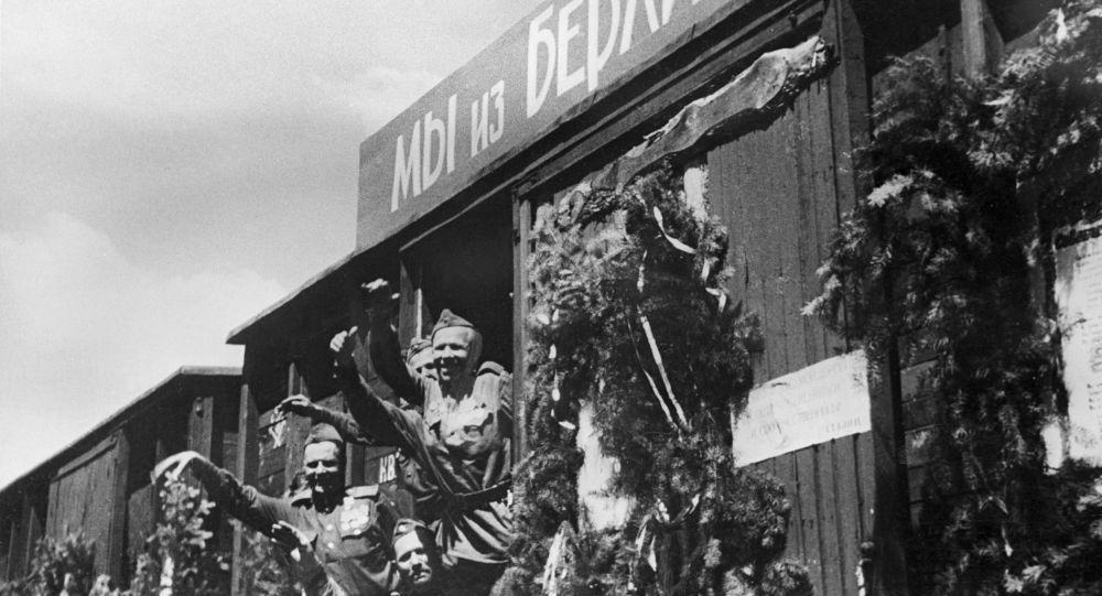 Powrót Armii Czerwonej z Berlina