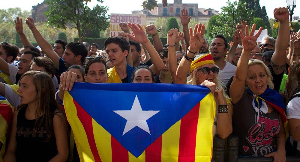 Zwolennicy oddzielenia się Katalonii od Hiszpanii