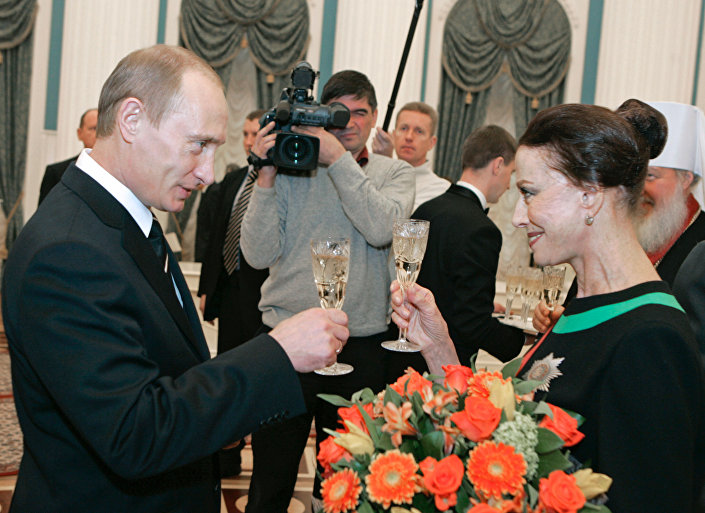Władimir Putin i baletnica Maja Plisiecka