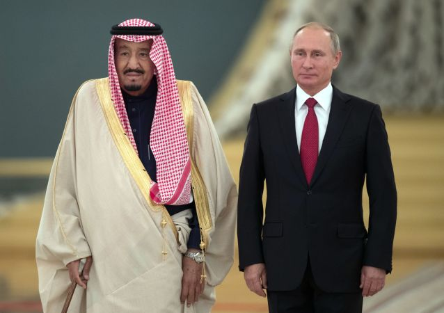 Władimir Putin i Salman ben Abdel Aziz Al Saud