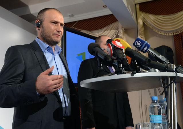 Lider Prawego Sektora Dmytro Jarosz, rok 2014