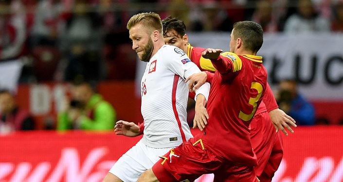 Jakub Błaszczykowski podczas meczu reprezentacji Polski z Czarnogórą w Warszawie, 08.10.2017