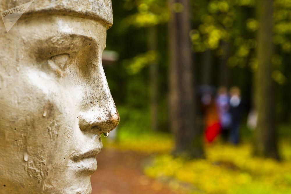 Rzeźba w parku Carycyno w Moskwie