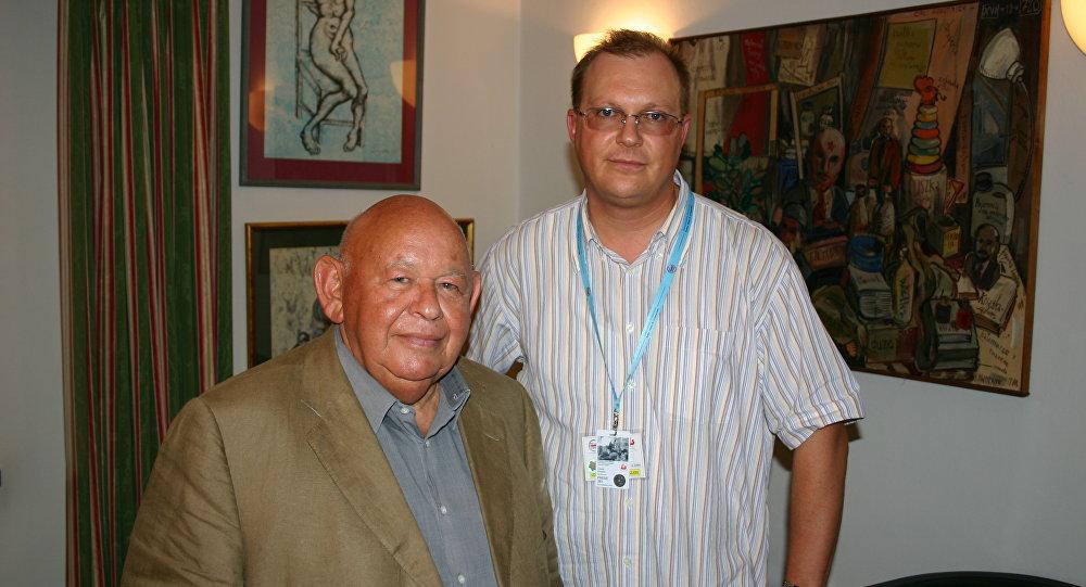 Jerzy Urban (NIE) i Leonid Swiridow (RIA Nowosti). Warszawa.