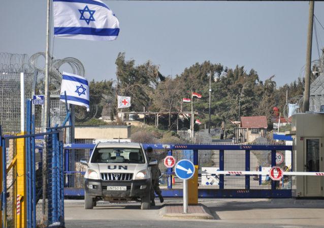 Przejście graniczne między Syrią a Izraelem na Wzgórzach Golan