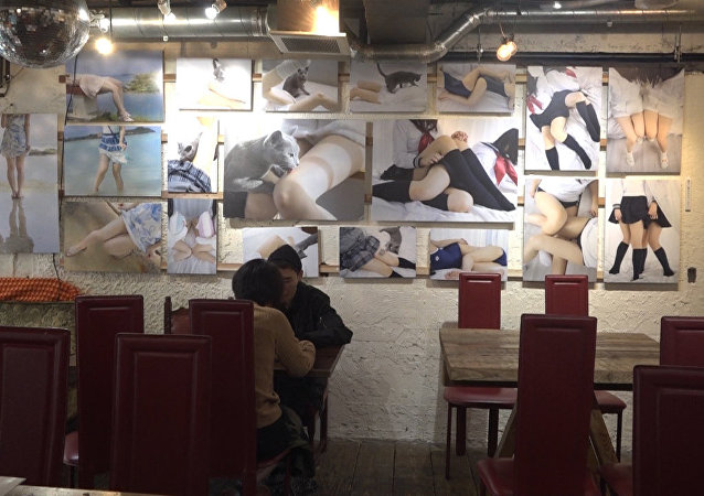 Kawiarnia w Tokio