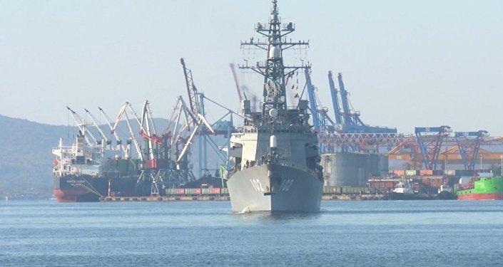 Eskadra z Japonii przybyła do Władywostoku