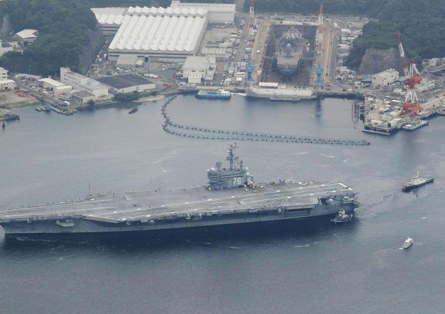 Amerykański lotniskowiec USS Ronald Reagan
