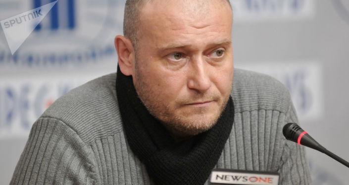 """Lider """"Prawego Sektora"""" Dmitrij Jarosz. Zdjęcie archiwalne"""