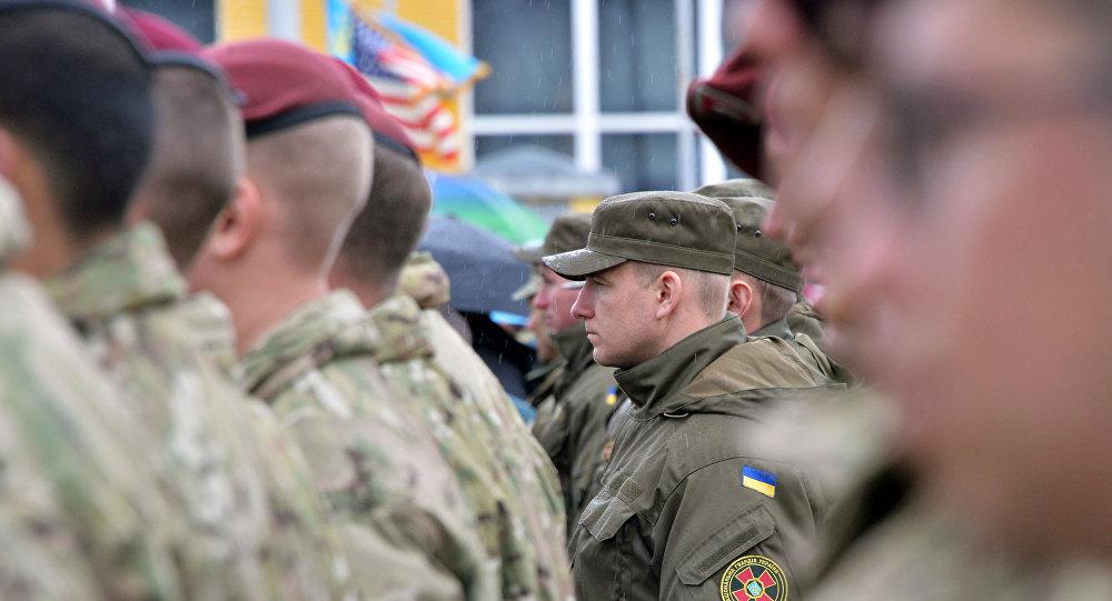 Amerykańscy i ukraińscy żołnierze na jaworowskim poligonie w obwodzie lwowskim