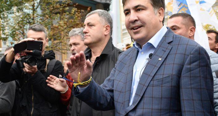Były prezydent Gruzji, były gubernator obwodu odeskiego Micheil Saakaszwili