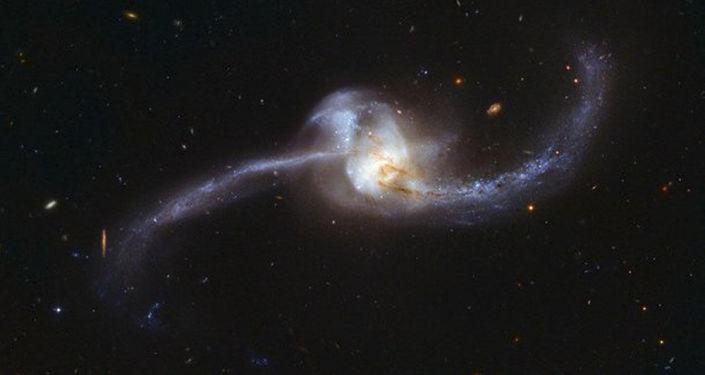 Zderzenie dwóch galaktyk