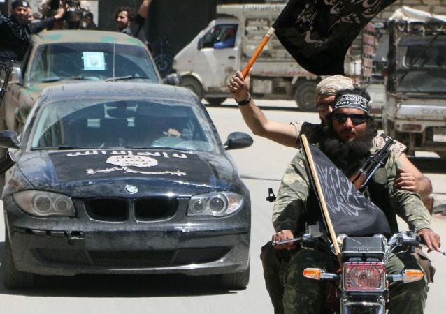"""Terroryści islamistycznej organizacji terrorystycznej """"Dżabhat al-Nusra"""" w Syrii"""