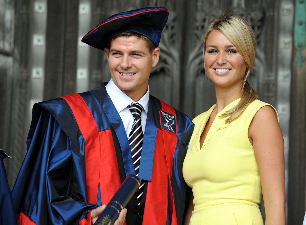 Steven Gerrard i jego żona Alex Curran