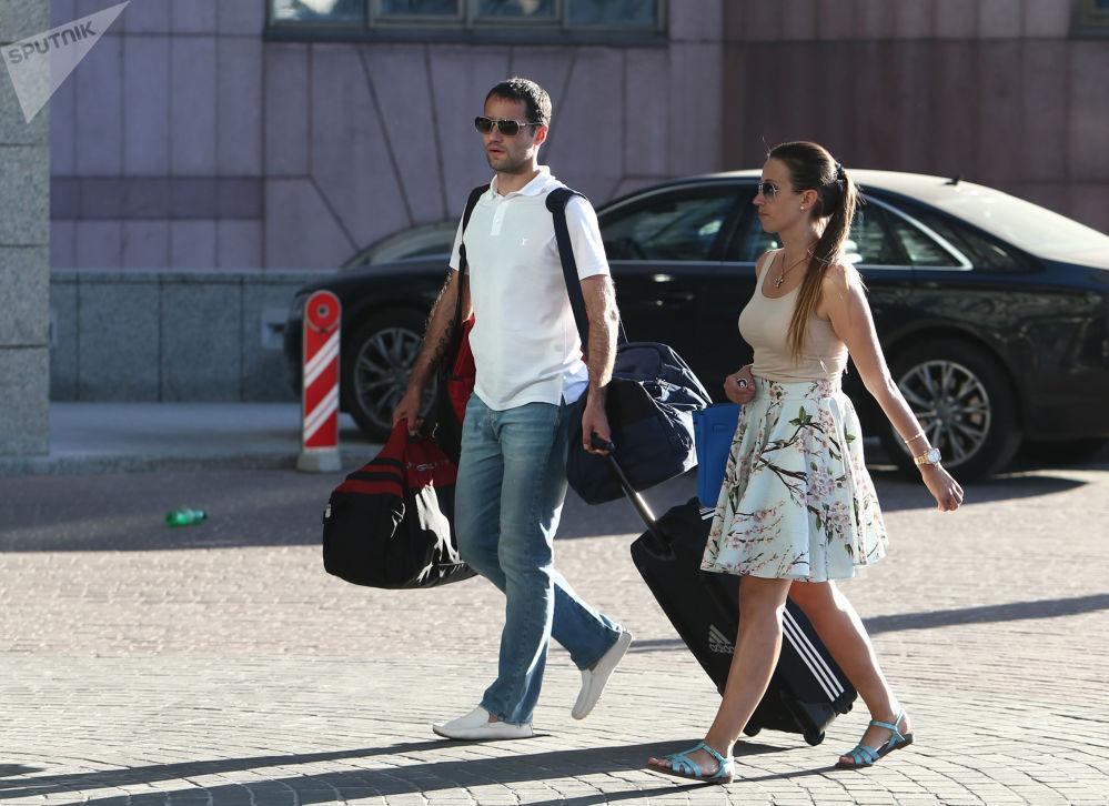 Roman Szyrokow i jego żona Ekaterina