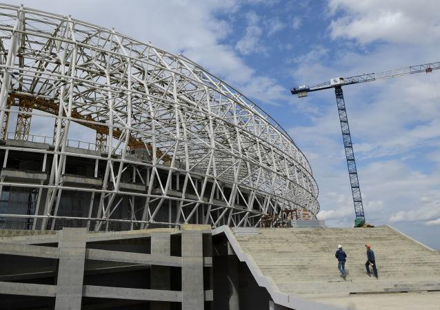 """Budowa stadionu """"Mordowia Arena"""" w Sarańsku"""