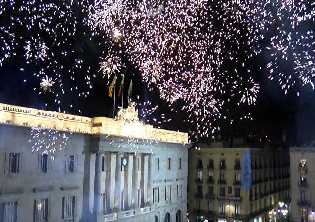 Katalonia świętuje ogłoszenie niepodległości.