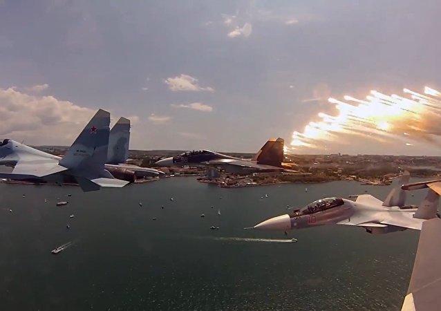 MO Rosji pokazało możliwości nowoczesnego  myśliwca Su-30SM generacji 4+.
