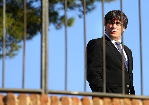Przewodniczący katalońskiego parlamentu Carles Puigdemont
