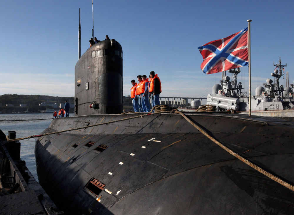 """Wielozadaniowy okręt podwodny o napędzie dieslowym projektu 636 """"Warszawianka"""" (w kodzie NATO """"Improved Kilo"""")"""