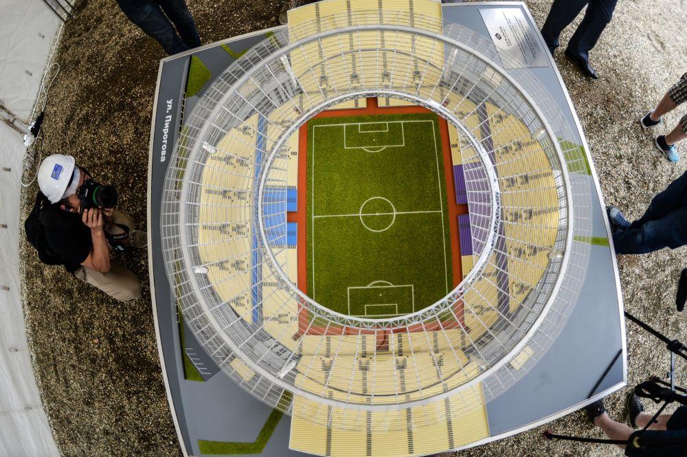 Makiet boiska Centralnyj w Jekaterynburgu