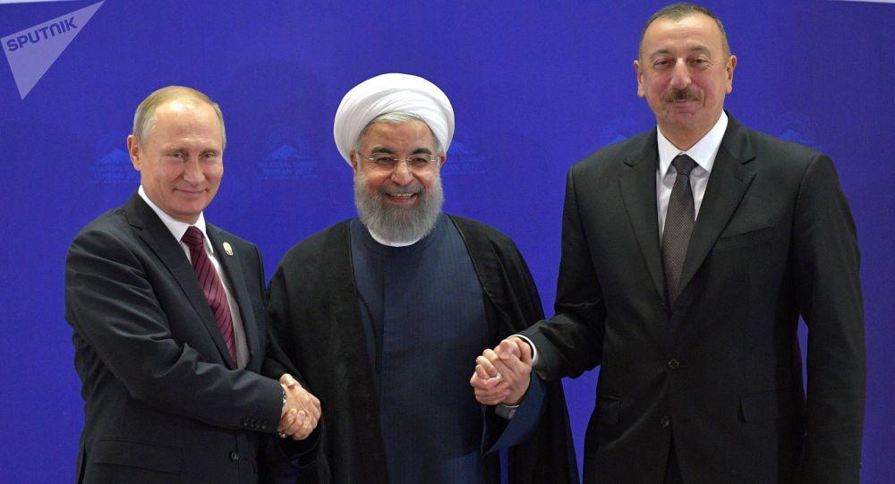 Władimir Putin, Hasan Rouhani i Ilham Alijew