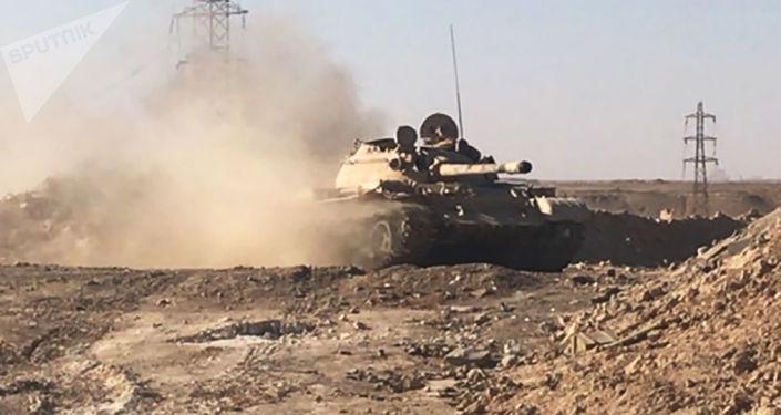 Syryjskie wojska w Dejr ez-Zor