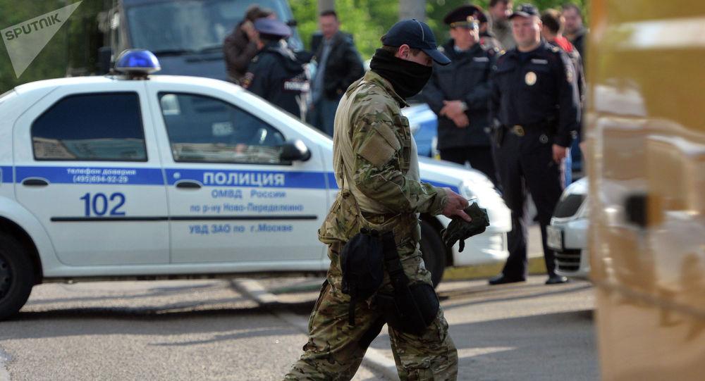 Funkcjonariusz FSB w Moskwie