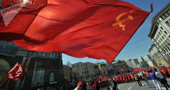 Miting Partii Komunistycznej w Moskwie