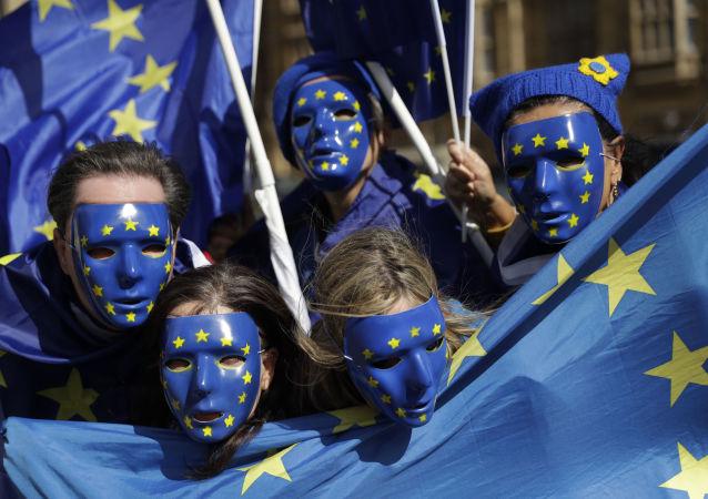 Przeciwnicy Brexitu Wielkiej Brytanii z Unii Europejskiej