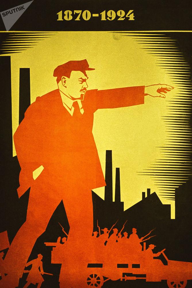 Plakaty z pierwszych lat władzy radzieckiej, 1924 r.