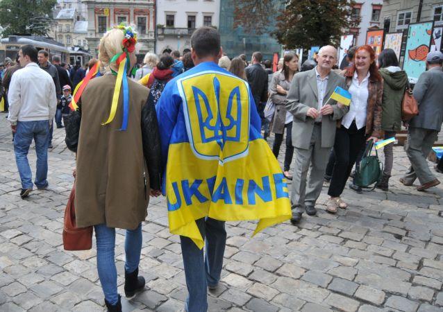 Lwów w Dzień Niepodległości Ukrainy